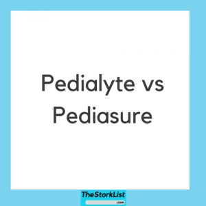 Pedialyte vs Pediasure