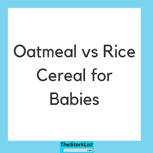 Oatmeal vs rice cereal